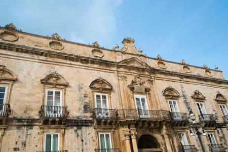 ortigia: Palace in Duomo Square, Syracuse Ortigia, Sicily, Italy