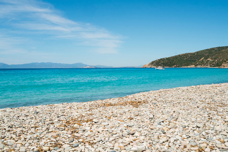 Mari Pintau beach along the coast of Cagliari, Sardinia, Italy Stock Photo