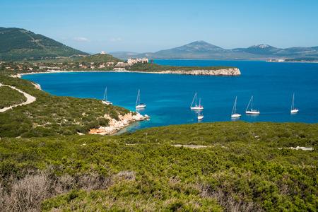 Porto Conte Bucht in Capo Caccia, Alghero, Sardinien, Italien Standard-Bild