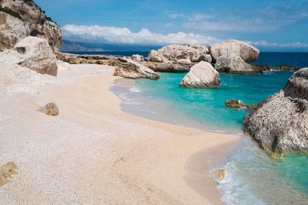 Cala Mariolu beach in Baunei, Sardinia, Italy