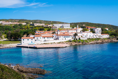 Cala di Oliva village in Asinara island in Sardinia, Italy