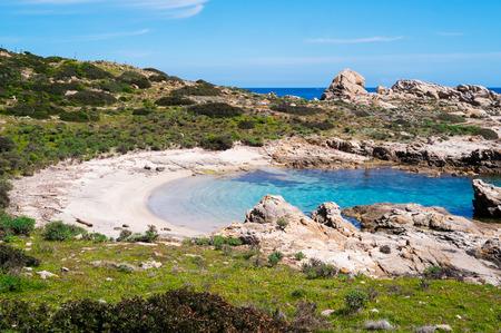 Cala Sabina beach in Asinara island in Sardinia, Italy