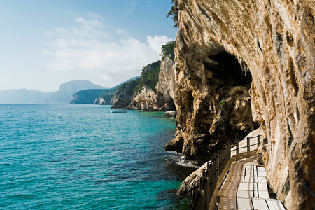 Trail to grotta del Bue Marino in Cala Gonone, Sardinia, Italy