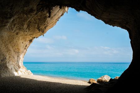 Cala Luna beach in Cala Gonone, Sardinia, Italy Archivio Fotografico
