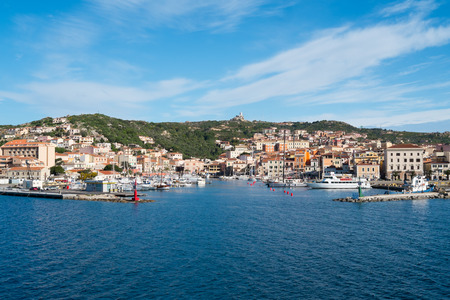 La Maddalena Dorf in Insel La Maddalena, Sardinien, Italien