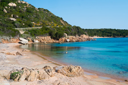 Cala Spalmatore beach in La Maddalena island, Sardinia, Italy Stock Photo