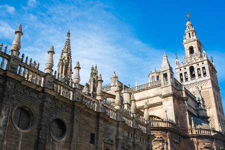 La Giralda cathedral in Seville, Andalusia, Spain