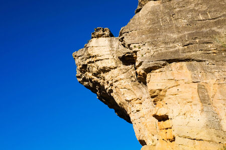 rock formation: Rock formation in Patones, Madrid, Spain