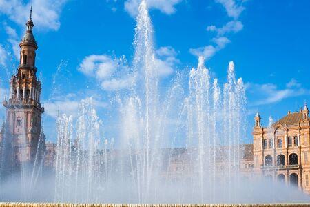 espana: Plaza de espana palace in Seville, Andalusia, Spain