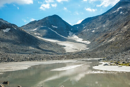 sud tirol: Vedrette di Ries glacier in Valle Aurina, South Tirol, Italy