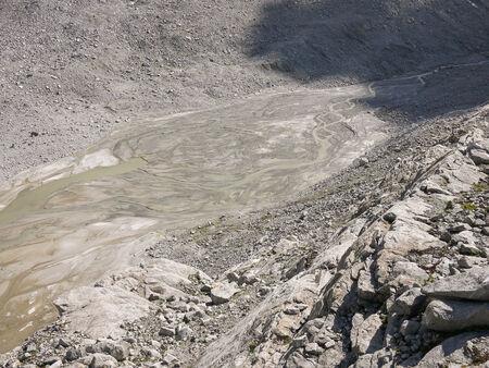 sud tirol: Glacier moraine close to Vedrette di Ries glacier, Valle Aurina, Italy
