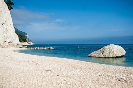 riviera: Beach of numana in Conero riviera, Marche, Italy
