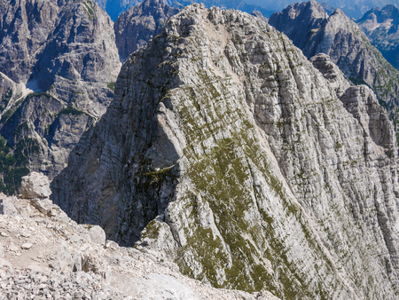 sella: Mountain tops in front of Jof di Montasio, Alpi Giulie, Italy