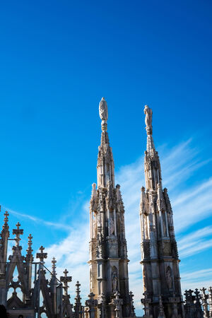 steeples: Steeples on dome roof top in Milan