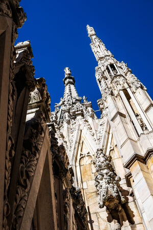 steeples: Steeples of Milan Dome, Italy