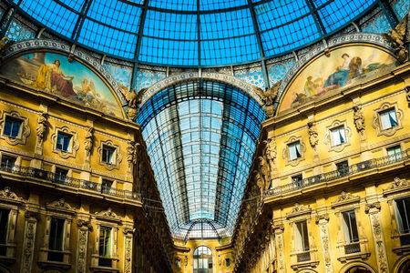 vittorio emanuele: Detail of Galleria Vittorio Emanuele II in Milan, Italy Editorial