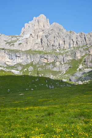 fassa: Dolomites mountains Val di Fassa, Trentino, Italy