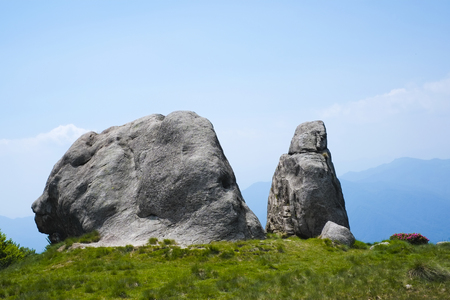 Rock formation in Mottarone mountain, Piedmont, Italy