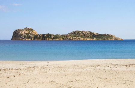 south coast: Porto Tramatzu beach in Teulada, South coast of Sardinia, Italy Stock Photo