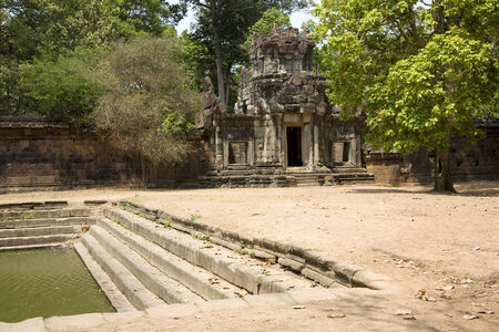 ���archeological site���: Temple in Angkor archeological site, Siem Reap, Cambodia