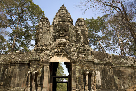 ���archeological site���: Entrance door to Angkor archeological site, Siem Reap, Cambodia