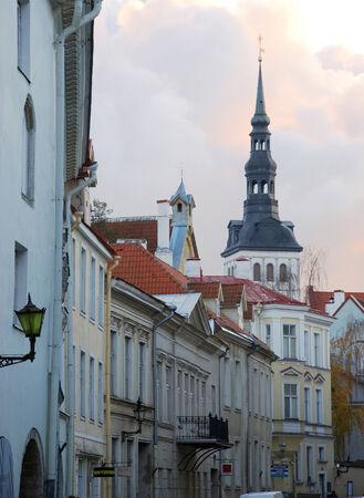 pictoresque: Old town in Tallinn, Estonia Stock Photo