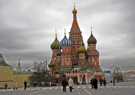 red square moscow: San Basilio Chatedral, la Plaza Roja, Mosc�, Rusia