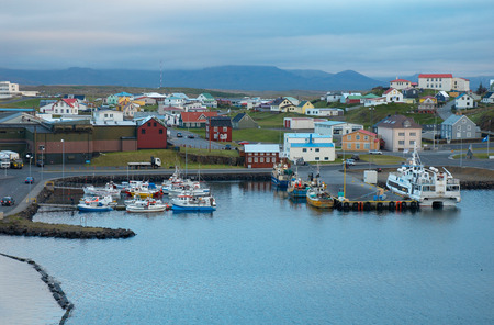 View of Stykkisolmur, Snaefellsnes peninsula, Iceland