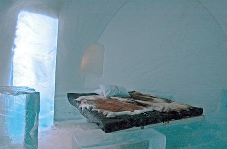 kiruna: Icehotel in Jukkajarvi, Kiruna, north of Sweden Stock Photo