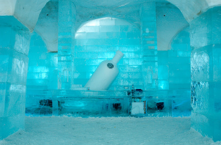 Icehotel in Jukkajarvi, Kiruna, north of Sweden Editorial