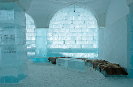 kiruna: Icehotel in Jukkajarvi, Kiruna, north of Sweden Editorial