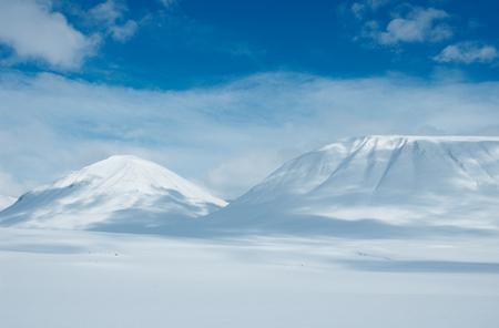 Snowy mountains in Kungsleden, Lapland, North of Sweden