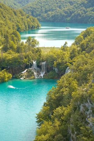 unaffected: Plitvice lakes National Park, Croatia Stock Photo