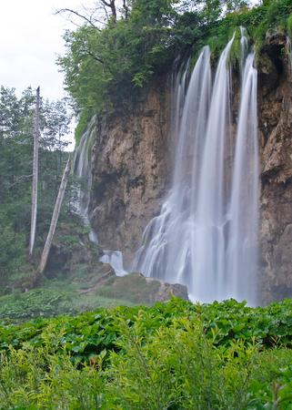 unaffected: Waterfall in Plitvice lakes National Park, Croatia