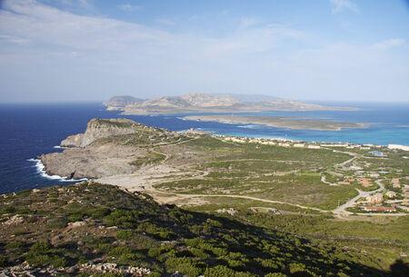 Falcone Capo e dell'Asinara, a nord della Sardegna, Italia Archivio Fotografico - 35349910