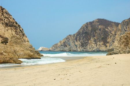 unaffected: Beach of Maruate, Michoacan, Mexico