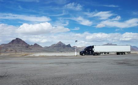 nevada: Truck in Nevada, Usa Stock Photo