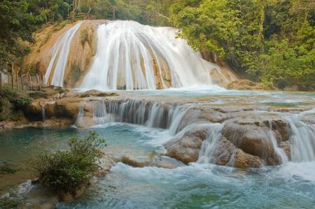 Agua Azul waterfalls, Chiapas, Mexico photo