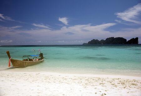 phi phi island: Beach in Koh Phi Phi island, Thailand Stock Photo