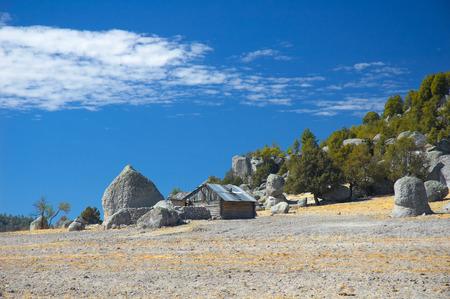Tal in der Nähe von Creel, Mexiko Standard-Bild
