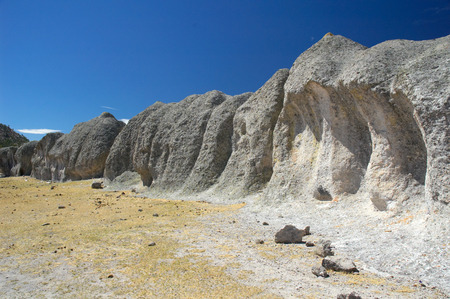 indios: Valley close to Creel, Copper Canyon, North Mexico Stock Photo