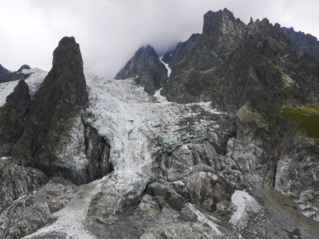 veny: Glacier in the Mont Blanc complex, Val Veny,  Alps Mountains