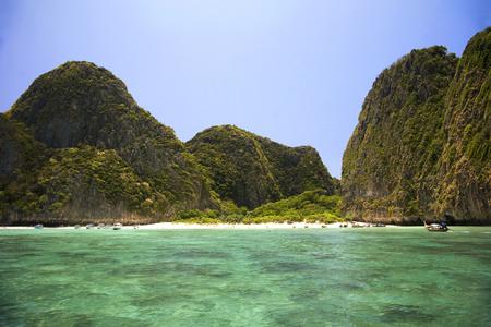 Beach and coast in Koh Phi Phi island, Thailand photo