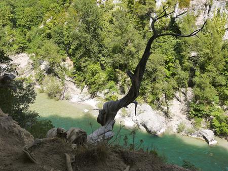 rock bottom: Gorge du Verdon canyon, provence, France