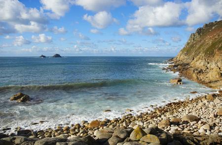 cornwall: Beach close to Cape Cornwall in Cornwall, United Kingdom Stock Photo