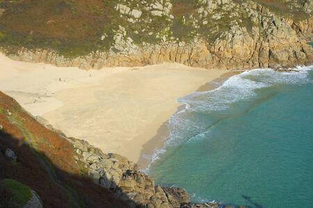 porthcurno: Porthcurno beach in Cornwall, United Kingdom