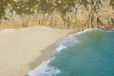 unaffected: Porthcurno beach in Cornwall, United Kingdom