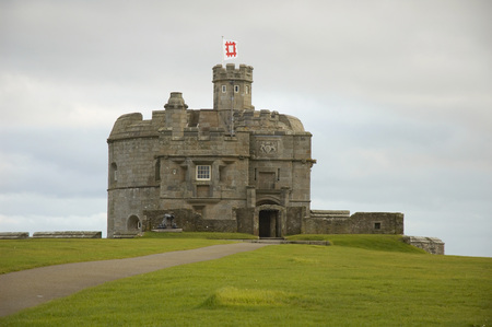 cornwall: Castle of Falmouth in Cornwall, United Kingdom Editorial