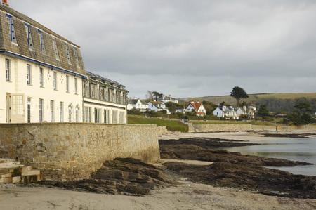 cornwall: St Mawes beach in Cornwall, United kingdom Stock Photo