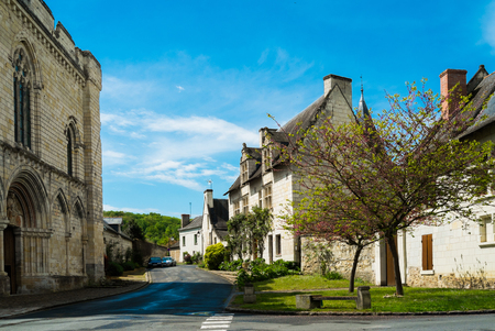 bucolic: Village of cunault in the Loire region, France